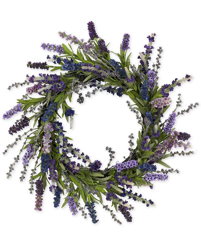 """Nearly Natural 20"""" Lavender Wreath"""