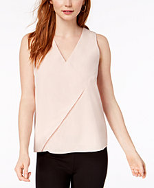 Bar III Sleeveless Seamed Top, Created for Macy's