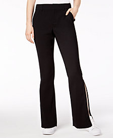 Bar III Zippered-Leg Fitted Pants, Created for Macy's