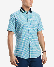 Tommy Hilfiger Men's Alle Knit-Collar Shirt, Created for Macy's