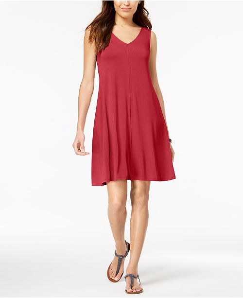 Petite Cross-Back Swing Dress