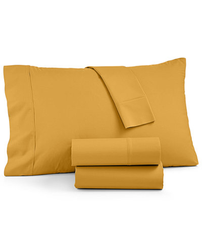 AQ Textiles York NuPercale 600 Thread Count 4-Pc. Extra Deep California King Sheet Set, Created For Macy's