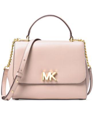 michael kors mott leather top handle satchel handbags rh macys com