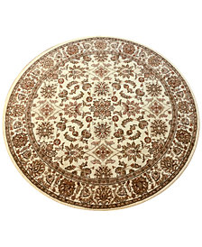 "CLOSEOUT! KM Home Pesaro Meshed Ivory 5'3"" Round Area Rug"
