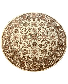 """CLOSEOUT! KM Home Pesaro Meshed Ivory 5'3"""" Round Area Rug"""