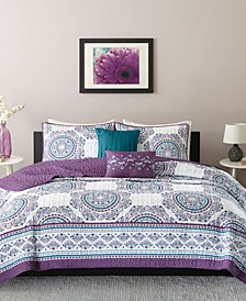 Anika 5-Pc. Full/Queen Coverlet Set