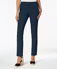 Charter Club Twill Slim Ankle Pants, Created for Macy's
