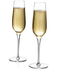 Nambé Vie Champagne Flutes, Set of 2
