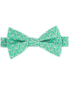 Tommy Hilfiger Men's Printed Flamingo Pre-Tied Silk Bow Tie