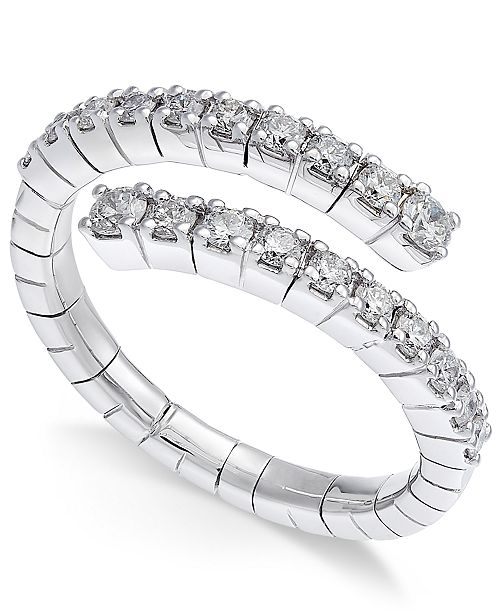 Macy's Diamond Wrap Ring (5/8 ct. t.w.) in 14k White Gold