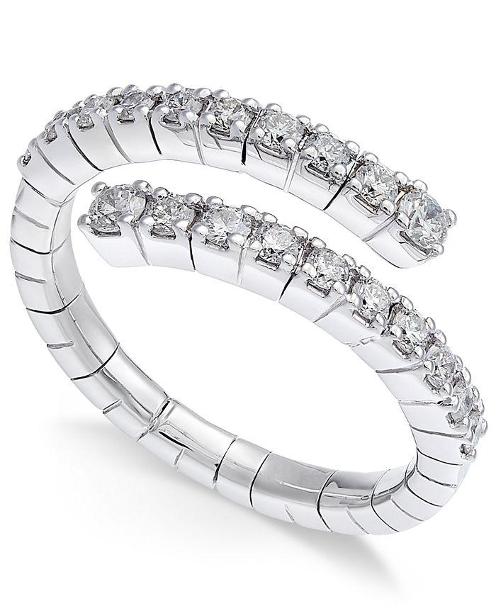 Macy's - Diamond Wrap Ring (5/8 ct. t.w.) in 14k White Gold