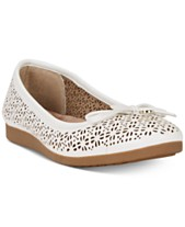 0b5865de1e7766 Giani Bernini Odeysa Memory Foam Perforated Ballet Flats