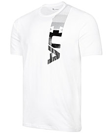 Under Armour Men's Podium Charged Cotton® Metallic Logo T-Shirt, Created for Macy's