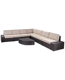 South Bay Outdoor 8-Pc. Sectional Set, Quick Ship