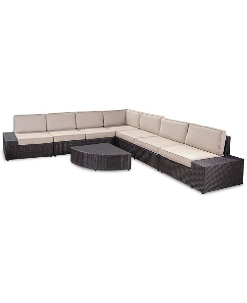 Phenomenal Furniture South Bay Outdoor 8 Pc Sectional Set Quick Ship Alphanode Cool Chair Designs And Ideas Alphanodeonline