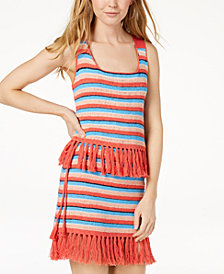 Moon River Cotton Fringe-Trim Tank Top