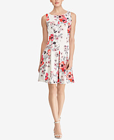 American Living Floral-Print A-Line Dress