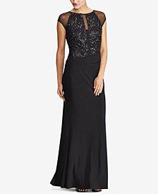Lauren Ralph Lauren Sequin Mesh Gown