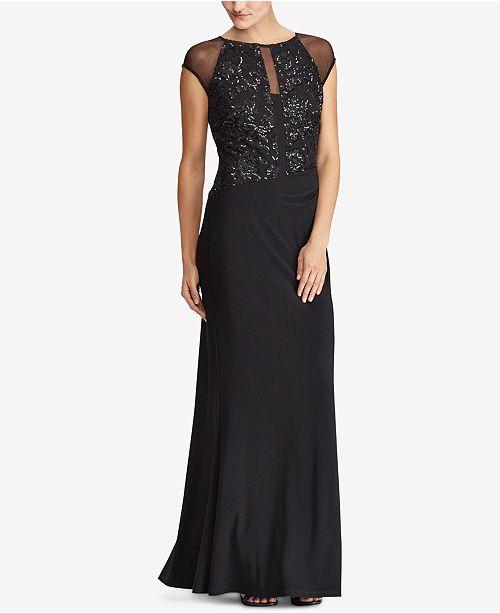 452b9ed9f12 Lauren Ralph Lauren Sequin Mesh Gown   Reviews - Dresses ...
