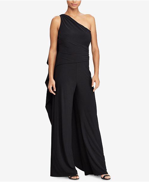 55fa271e9dda Lauren Ralph Lauren One-Shoulder Jumpsuit   Reviews - Pants   Capris ...