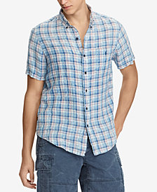 Polo Ralph Lauren Men's Classic Fit Plaid Linen Shirt