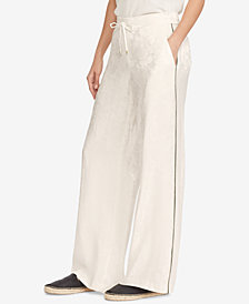 Lauren Ralph Lauren Wide-Leg Drawstring Pants