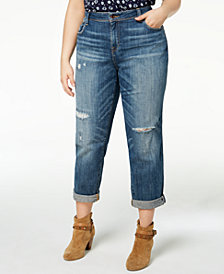 Lucky Brand Trendy Plus Size Reese Boyfriend Jeans