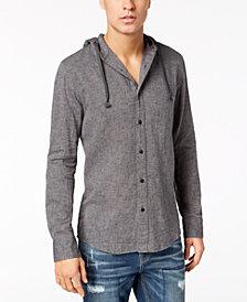 American Rag Men's Linen Hooded Shirt, Created for Macy's