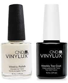 Creative Nail Design Vinylux Cream Puff Nail Polish & Top Coat (Two Items), 0.5-oz., from PUREBEAUTY Salon & Spa