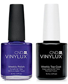 Creative Nail Design Vinylux Purple Purple Nail Polish & Top Coat (Two Items), 0.5-oz., from PUREBEAUTY Salon & Spa