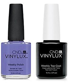 Creative Nail Design Vinylux Wisteria Haze Nail Polish & Top Coat (Two Items), 0.5-oz., from PUREBEAUTY Salon & Spa
