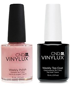 Creative Nail Design Vinylux Be Demure Nail Polish & Top Coat (Two Items), 0.5-oz., from PUREBEAUTY Salon & Spa