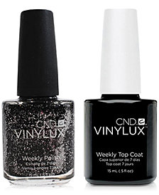 Creative Nail Design Vinylux Dark Diamond Nail Polish & Top Coat (Two Items), 0.5-oz., from PUREBEAUTY Salon & Spa