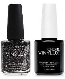 Creative Nail Design Vinylux Dark Diamond Nail Polish & Top Coat (Two Items), 0.5-oz., from PUREBEAUTY Salon & Spa