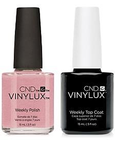 Creative Nail Design Vinylux Fragrant Freesia Nail Polish & Top Coat (Two Items), 0.5-oz., from PUREBEAUTY Salon & Spa