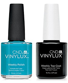 Creative Nail Design Vinylux Lost Labyrinth Nail Polish & Top Coat (Two Items), 0.5-oz., from PUREBEAUTY Salon & Spa
