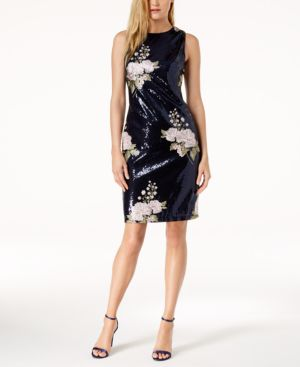 EMBROIDERED SEQUINED DRESS