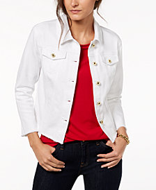 Tommy Hilfiger Frayed Denim Jacket, Created for Macy's