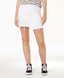 Flying Monkey Asymmetrical Cotton Denim Skirt