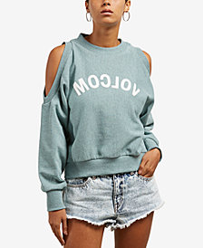 Volcom Juniors' Graphic Cold-Shoulder Sweatshirt
