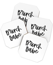 Deny Designs Chelcey Tate Brunch Babe Coaster Set