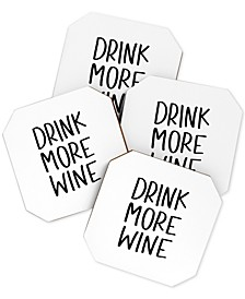 Chelcey Tate Drink More Wine Coaster Set