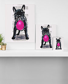 Deny Designs Coco de Paris Bulldog with Bubblegum Canvas Collection