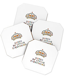 Deny Designs Bianca Green Her Daily Motivation Coaster Set