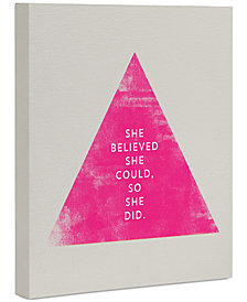 """Deny Designs Allyson Johnson She Believed She Could Art Canvas 8x10"""""""