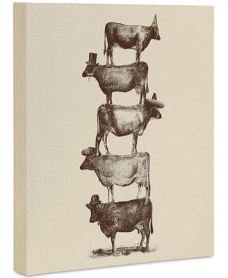 """Florent Bodart Cow Cow Nuts Art Canvas 8x10"""""""