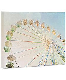 "Deny Designs Happee Monkee Ferris Wheel 16"" x 20"" Canvas Wall Art"