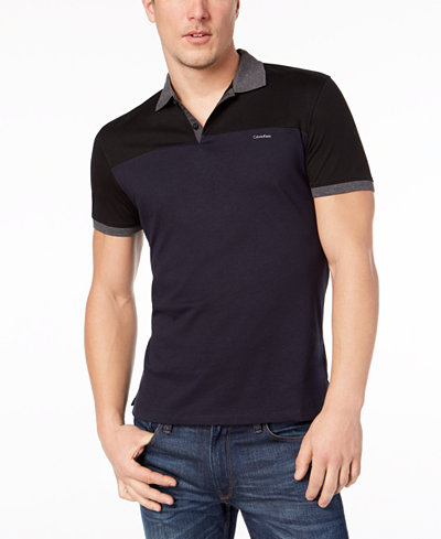 Calvin Klein Men's Liquid Touch Colorblocked Polo