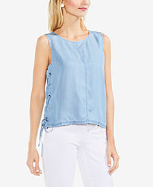 Vince Camuto Lace-Up Tank Top