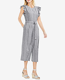 Vince Camuto Ruffled Cropped Jumpsuit